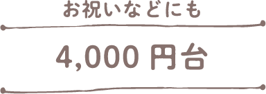 4000円台